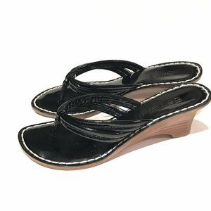 Bernardo Womens Sandals Black Patent Sandals Heels